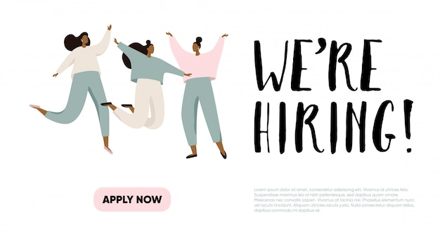 We are hiring illustration concept