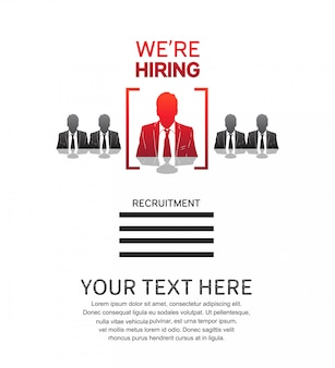 We are hiring job poster with man icon