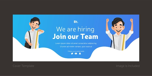 We are hiring join our team facebook cover design