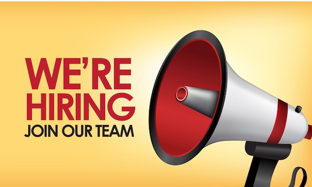 We are hiring join our team greeting card