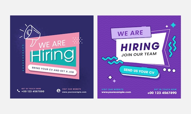 We are hiring join our team poster or template design