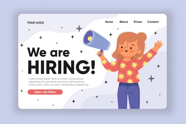We are hiring landing page design