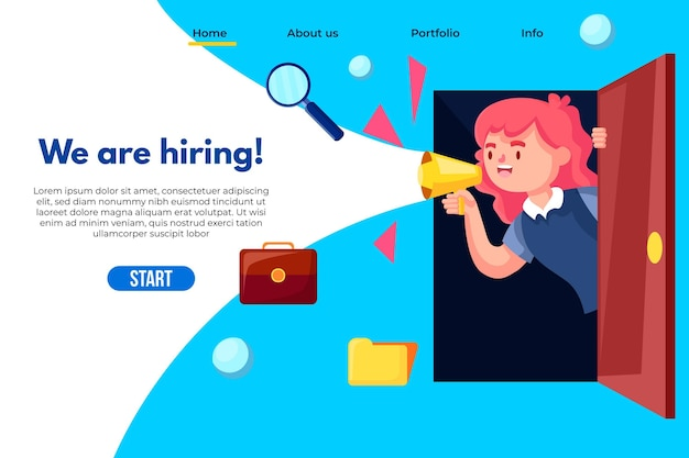 We are hiring landing page template