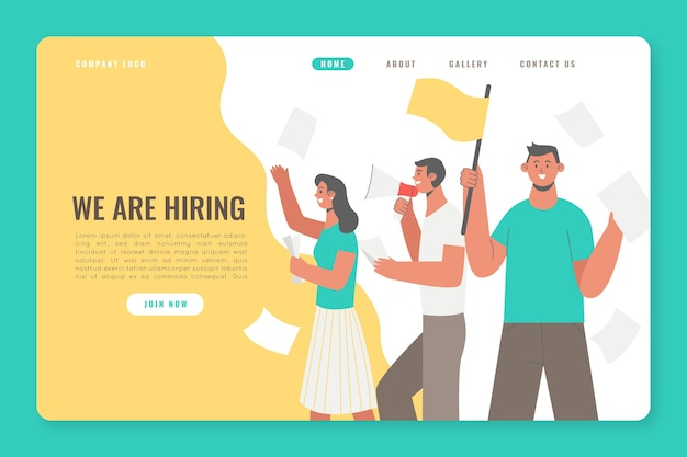We are hiring landing page theme