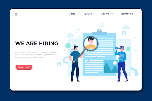 We are hiring landing page web template