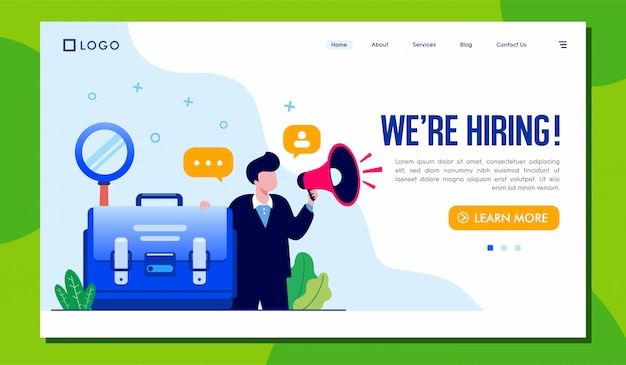 We are hiring landing page website