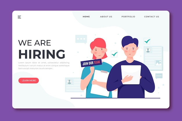 We are hiring landing page