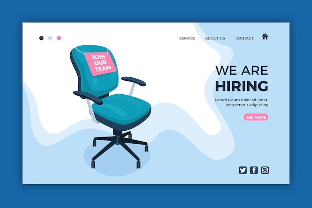 We are hiring - landing page