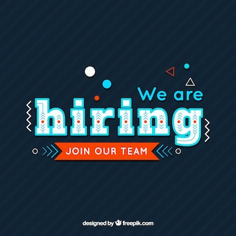 We are hiring modern banner composition