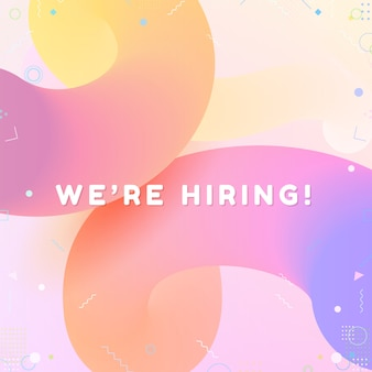 We are Hiring. Modern geometric Business Recruiting Concept.