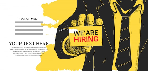 We are hiring poster concept design illustration