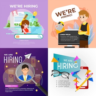 We are hiring poster illustration