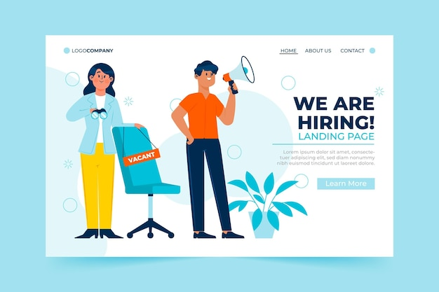 We are hiring promo landing page