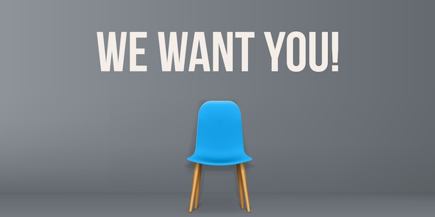 We are hiring - recruiting, employment, interview.