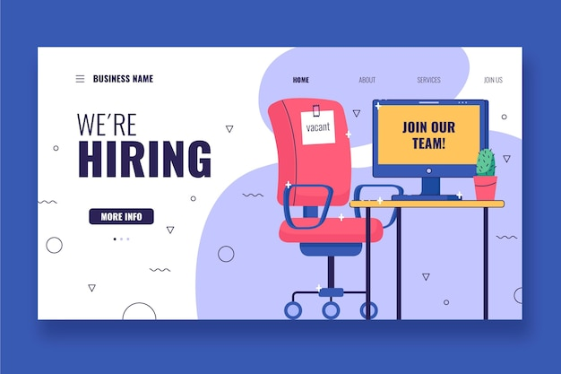 We are hiring recruitment landing page