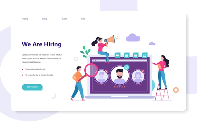 We are hiring. recruitment web banner concept. job