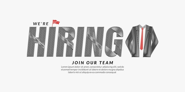 We are hiring scribble text design background job vacancy lettering typography
