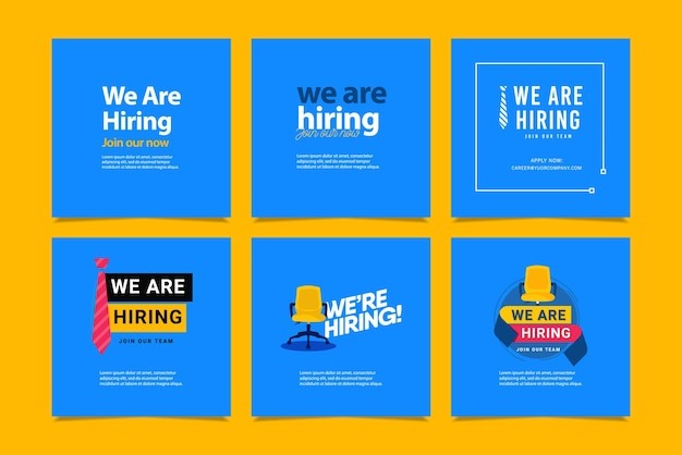 We are hiring social media post feed template