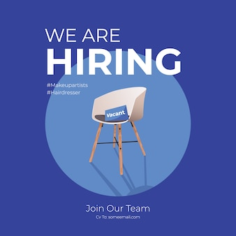 We are hiring square post design