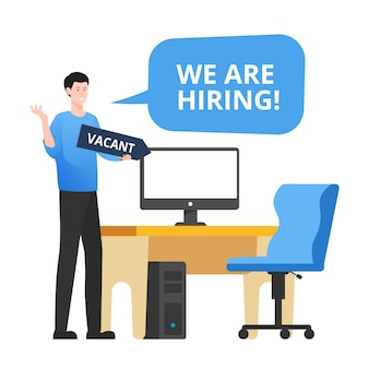 We are hiring. staffing & recruiting business concept