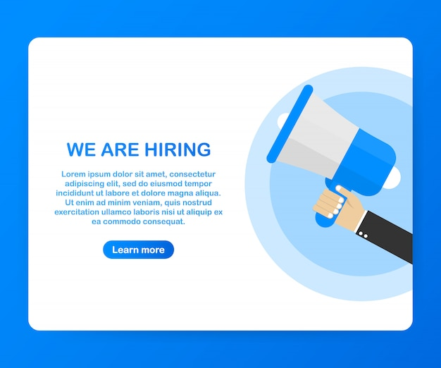 We are hiring template