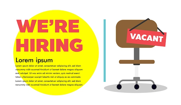 We are hiring, vacant