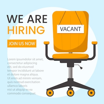 We are hiring vector isolated banner