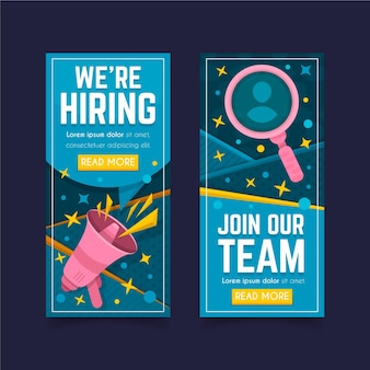 We are hiring vertical banners