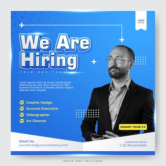 We are hiring for your best career social media post template