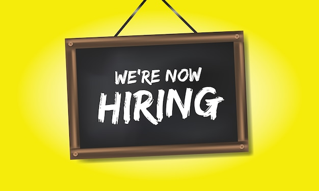 We are now hiring at the black board