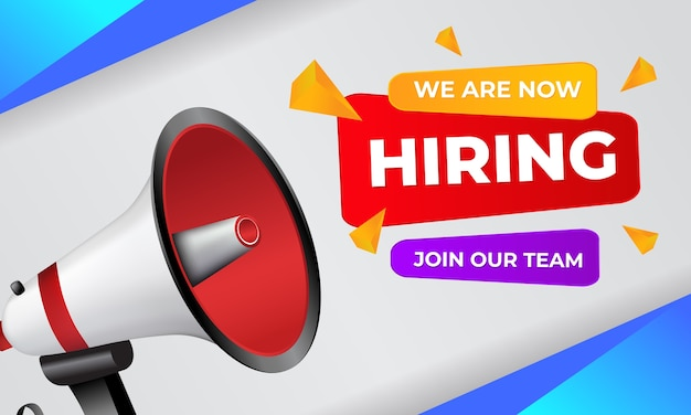 We are now hiring join our team greeting card