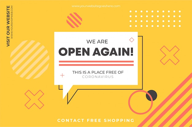 We are open again background template