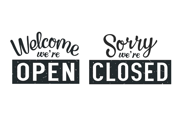Мы открыты и закрыты