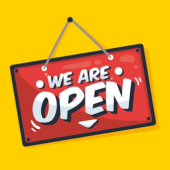 We are open concept of sign