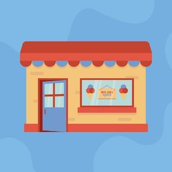オープンアイスクリームショップです