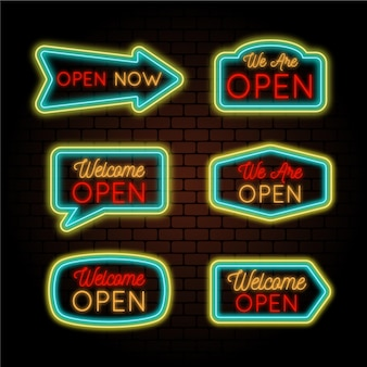 We are open neon signs