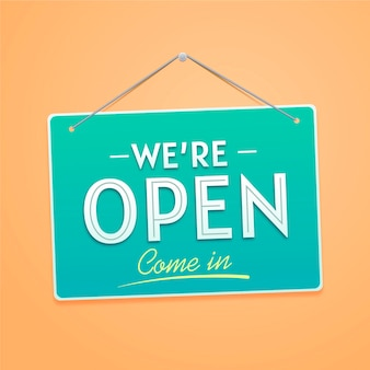 We are open sign concept