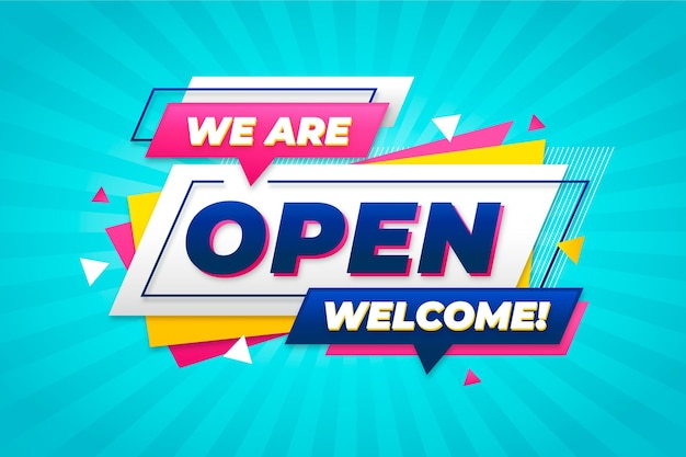 우리는 오픈 사인 개념입니다