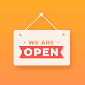 We are open sign design