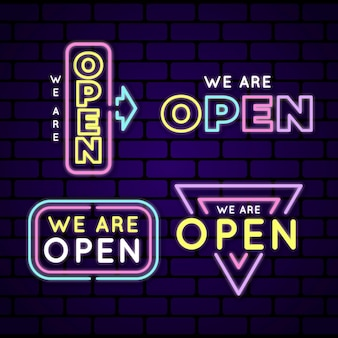 We are open sign neon collection
