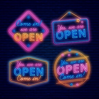 We are open sign neon