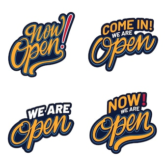 We are open sign set