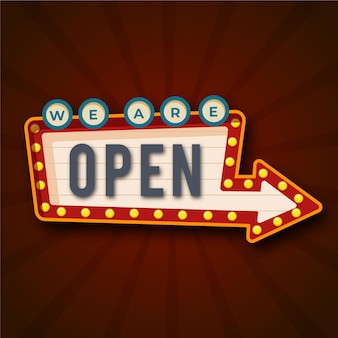 オープンサインスタイルです