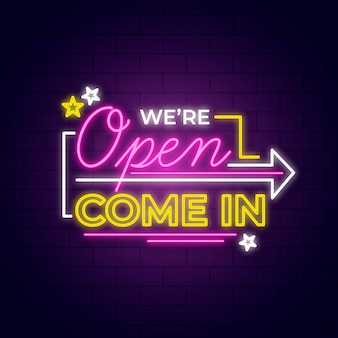 We are open sign style