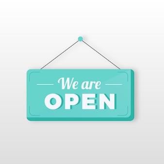 We are open sign theme