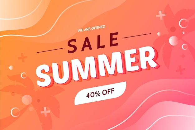 We are opened sale summer background