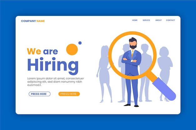 We are searching recruitment landing page