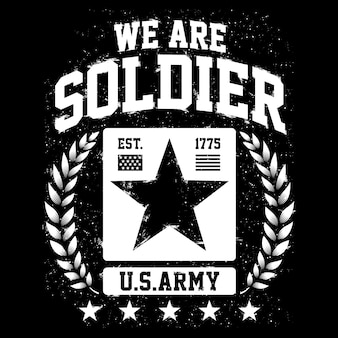 We are soldier, us army themes, american patriot design