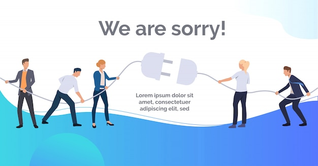 We are sorry blue slide presentation