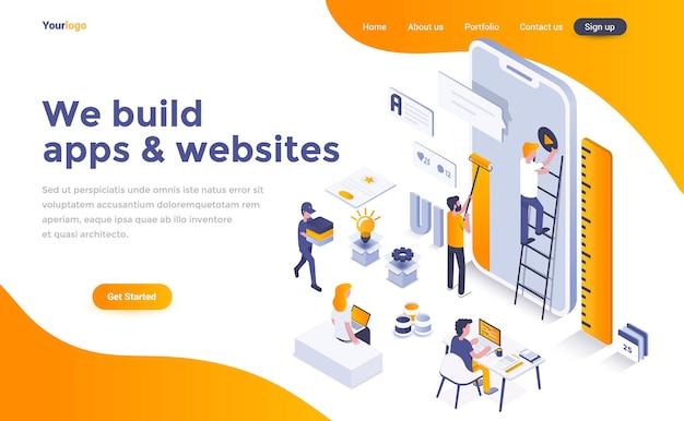 Мы создаем приложения и сайты изометрической целевой страницы